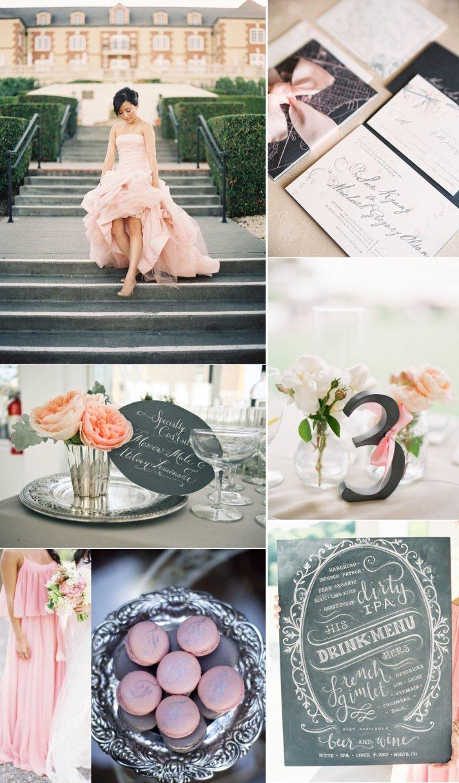 Wedding Color Inspiration Blush and Charcoal