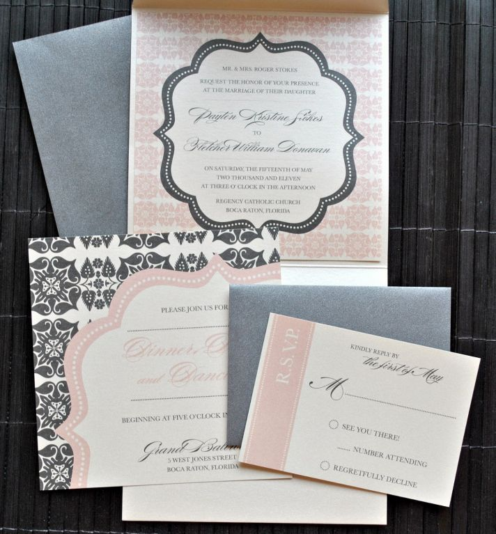Elegant Wedding Color Palette invitations