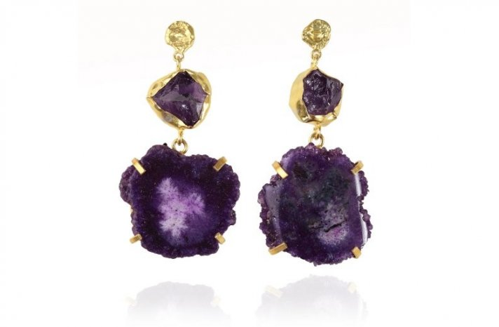 Elegant Wedding Jewelry Amethyst Bridal Earrings 2