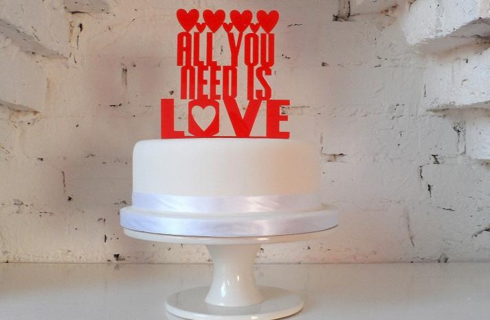 Handmade Wedding Finds Laser Cut cake topper