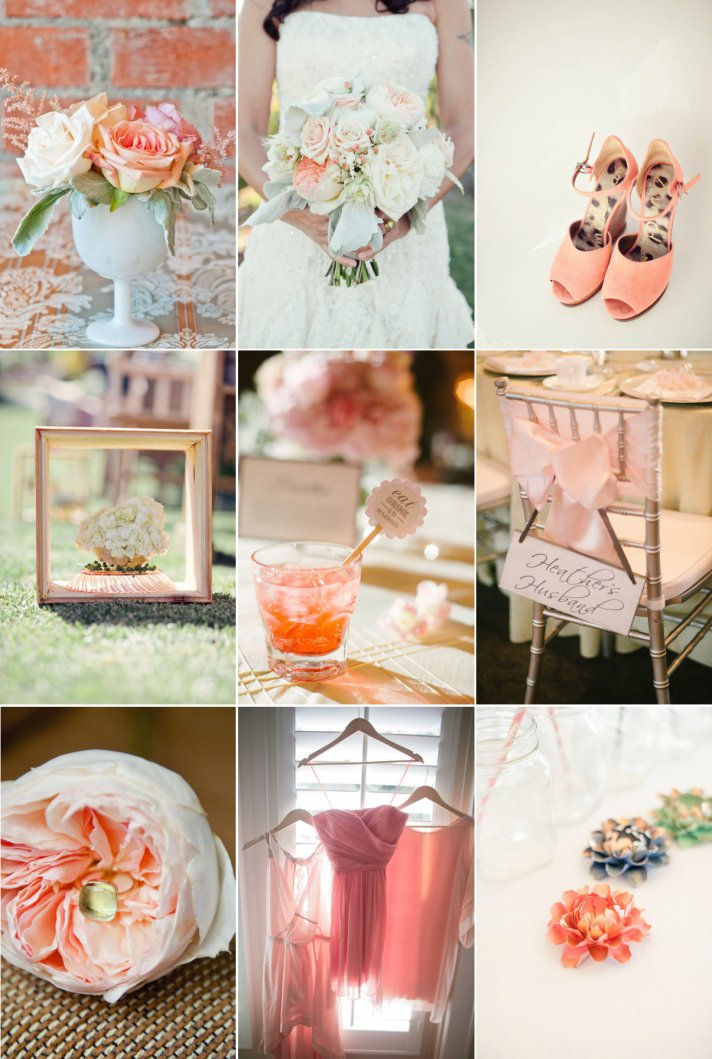 Peach, Gold and Cream Wedding Colors for Romantic I Do's