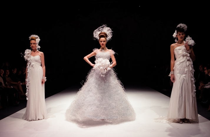 Dramatic Bridal Couture Yumi Katsura 2013 Wedding Dress Bridesmaid Gowns 2