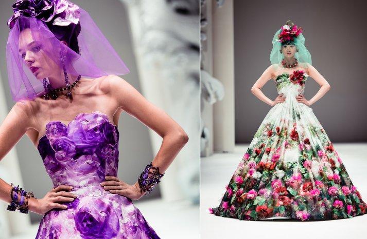 Floral Wedding Dress Bridal Inspiration Yumi Katsura