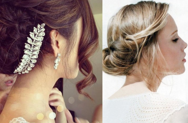 Romantic Wedding Hairstyles soft curled updos