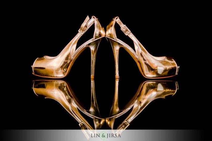 Glamorous Black and Gold Wedding Inspiration - Bridal Shoes