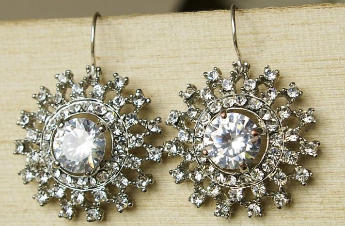 Vintage Wedding Accessories Art Deco Earrings