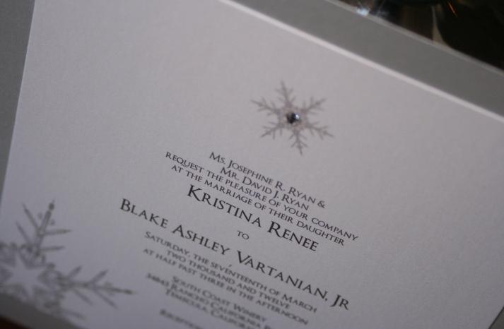 Winter Wonderland Wedding Invitations White Silver