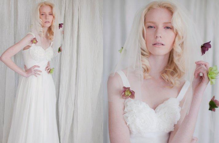 Vintage Modern Wedding Gown