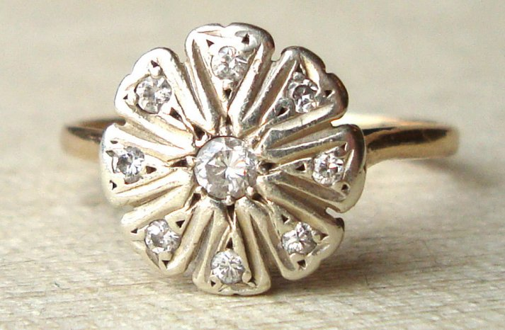 Daisy Inspired Vintage Engagement Ring