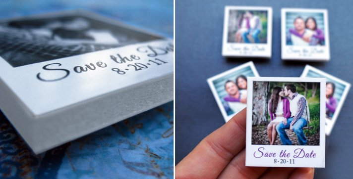Mini Poloroid Wedding Save the Dates