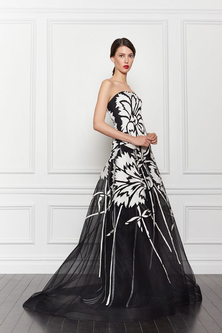 Black White Wedding Gowns 4 Trend Black and White Print