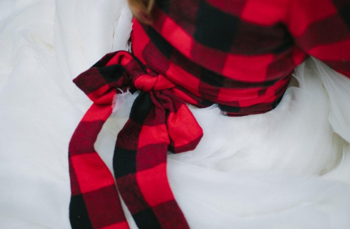 Plaid Bridal Coverup Red and Black