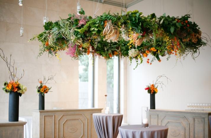 Enchanted Wedding Reception Decor Huge Floral Chandelier