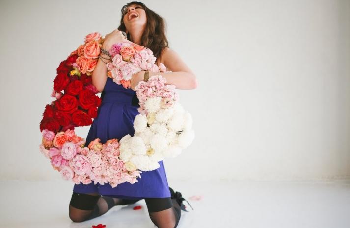 Romantic Wedding Flower Wreath Heart Shaped