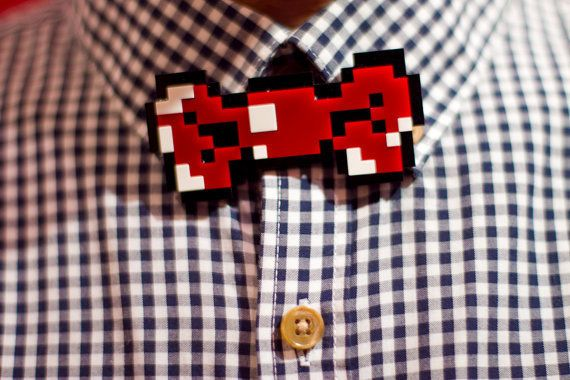 8 bit bow tie for geeky grooms
