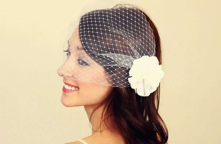 Classic Birdcage Veil Bridal Blusher