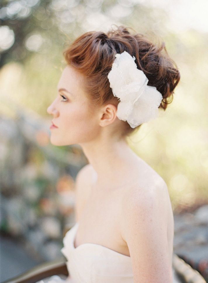 Beautiful Wedding Hairstyle Nestled Updo