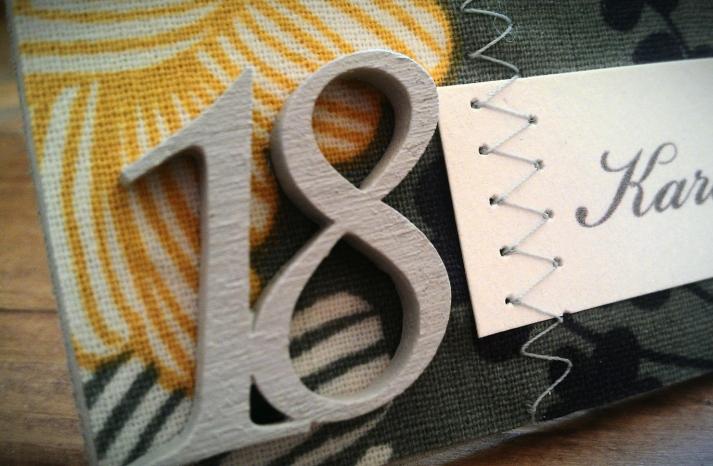 Hand Stitched Wedding Escort Cards