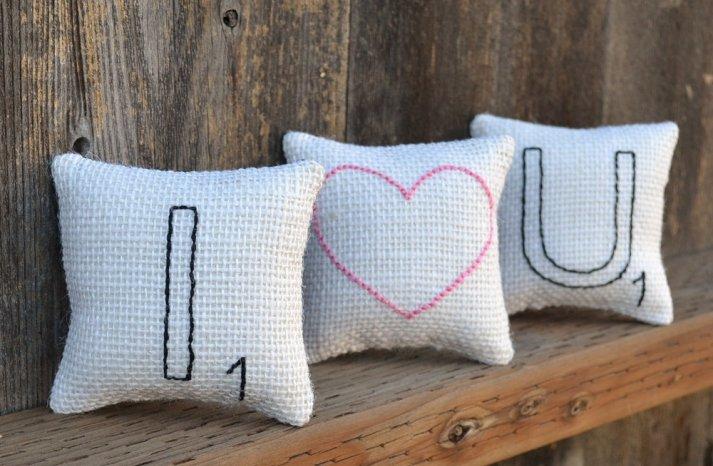 Romantic Handmade Wedding Pillows I Love You