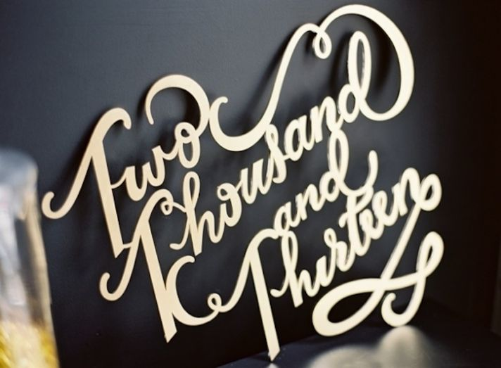 Gold Wedding Sign Laser Cut