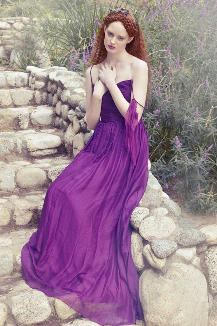Purple Bridesmaid Dress by Ivy and Aster