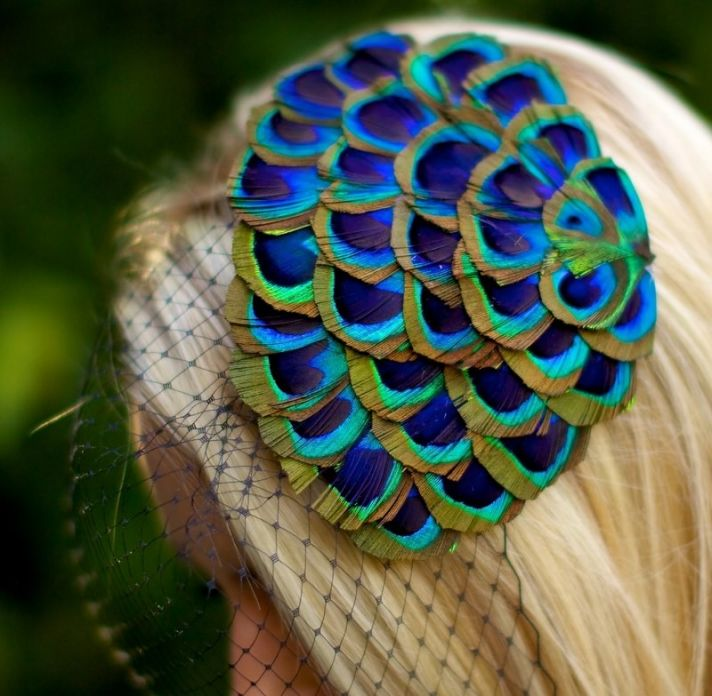 Peacock Feather Bridal Fascinator