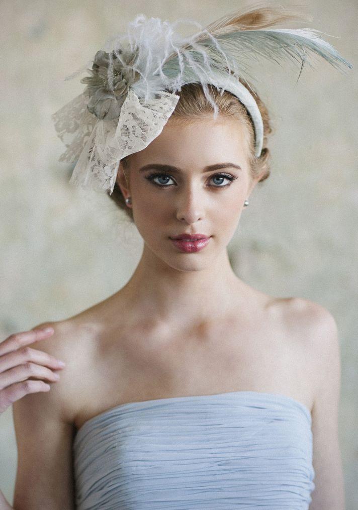 Something Blue Feather Bridal Headband