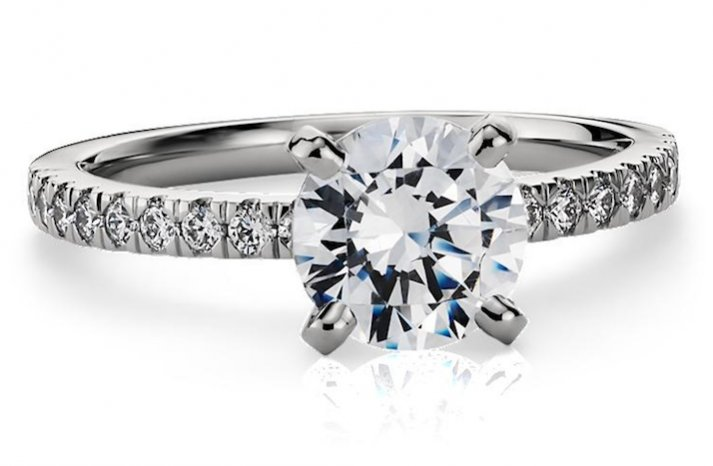 Blue Nile engagement rings Petite Pave