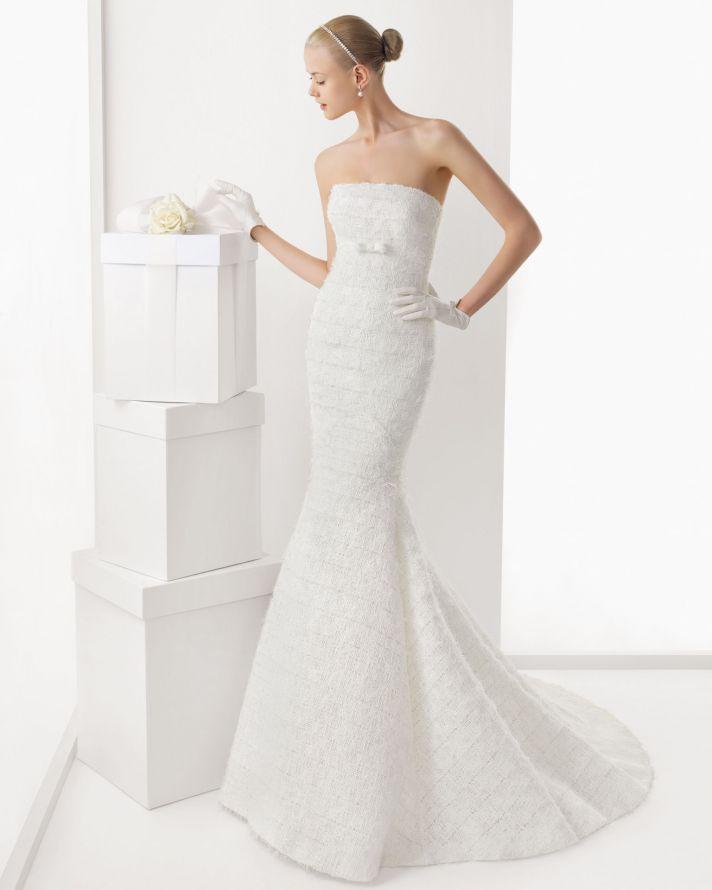 Unique 2013 Wedding Dress and Caplet by Rosa Clara