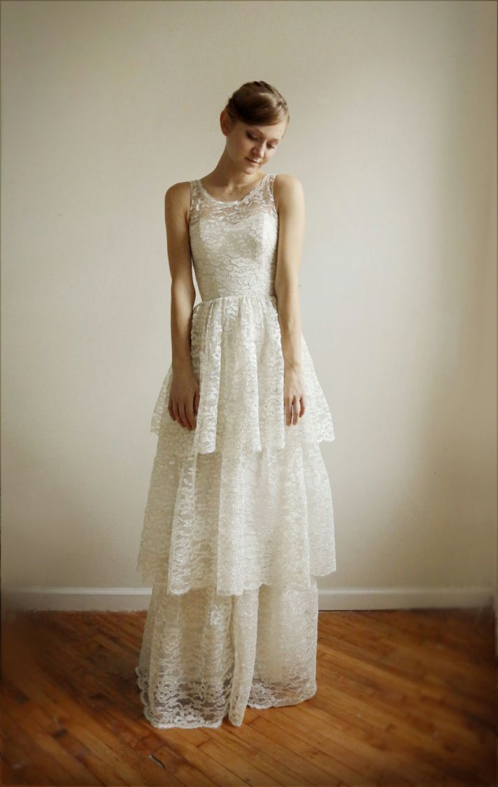 favorite illusion neckline wedding gowns of illusion wedding dress Classic Ivory lace Wedding Dress with Illusion Neckline
