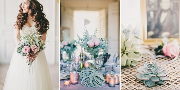 Romantic Wedding Color Inspiration Lavendar Pink Succulent Green