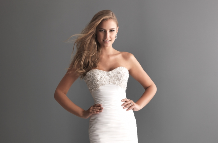 Allure Bridals Wedding Dress Bridal Gown Romance Collection Sweetheart 2617F