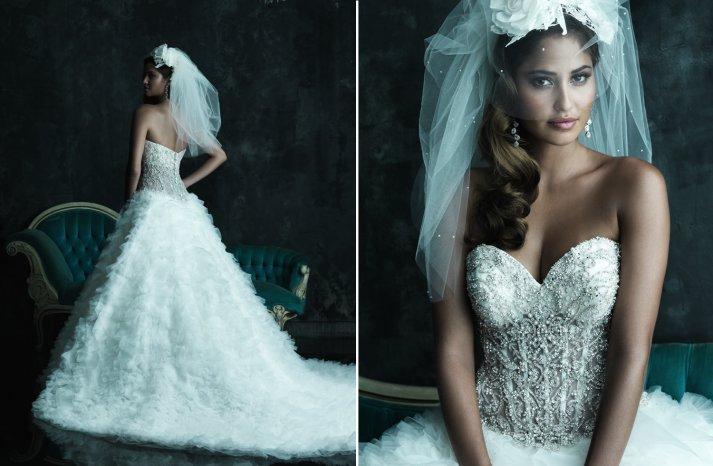 2013 Sweetheart Neckline Wedding Dresses Allure Couture C248