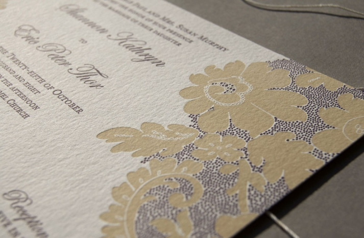 Elegant Vintage Lace Wedding Invites