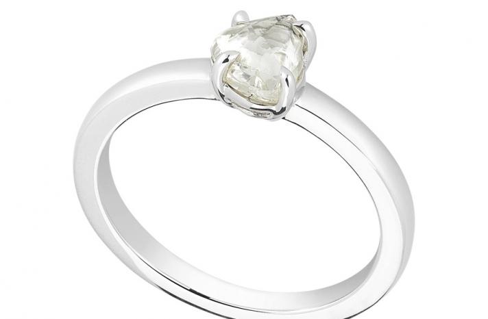 Unique Engagement Ring Diamond In The Rough 3D327 0 88 B