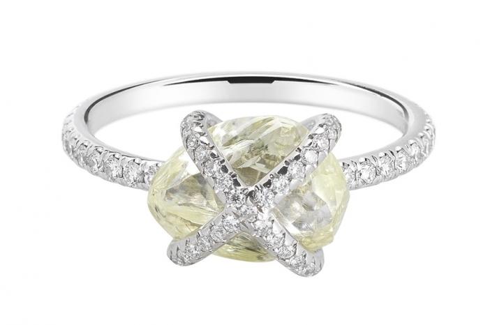 Beautiful Rough Diamond Engagement Ring ORW1020PDPL