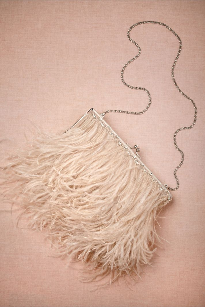 Fancy Feather Purse BHLDN Brides