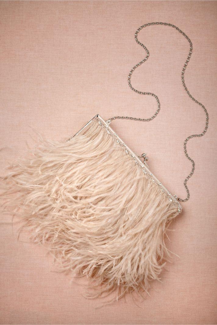 Fancy Feather Purse BHLDN Brides