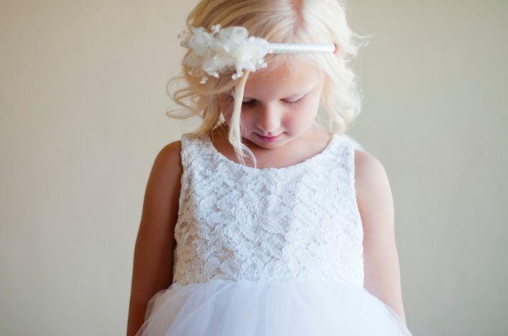 Classic Ivory Flower Girl Dress