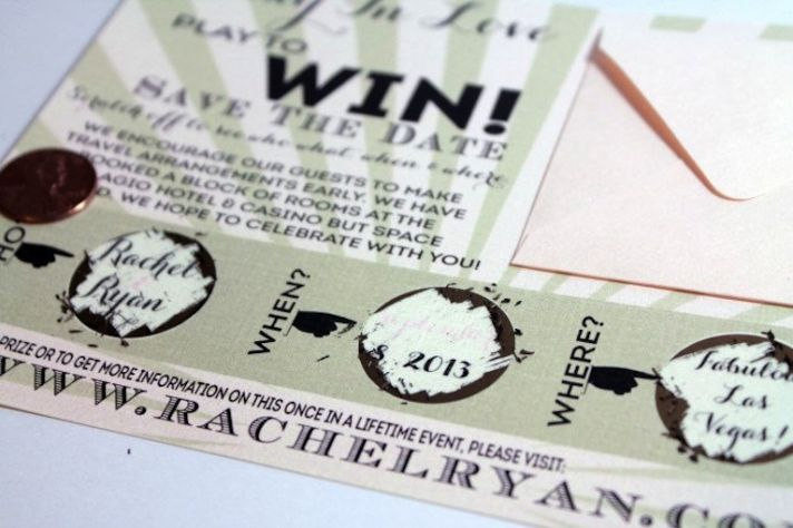 Unforgettable Wedding Save the Date Scratch Off