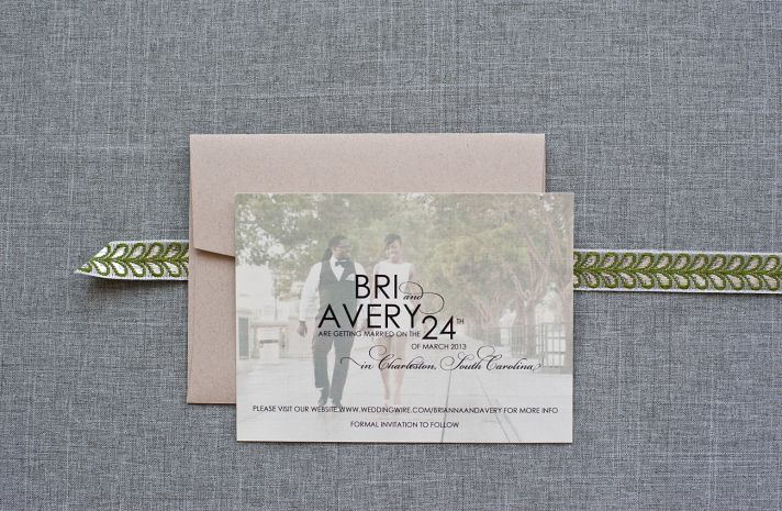 Simple Romantic Wedding Save the Date