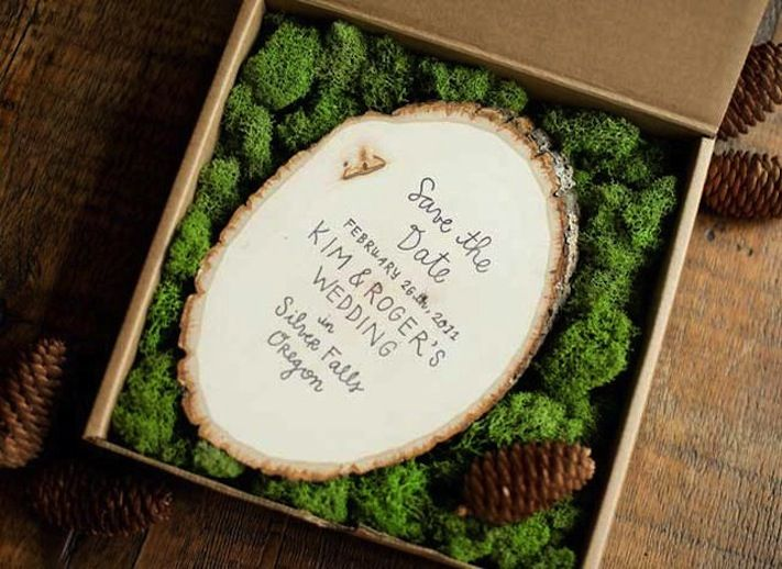 Rustic Woodsy Wedding Save the Date