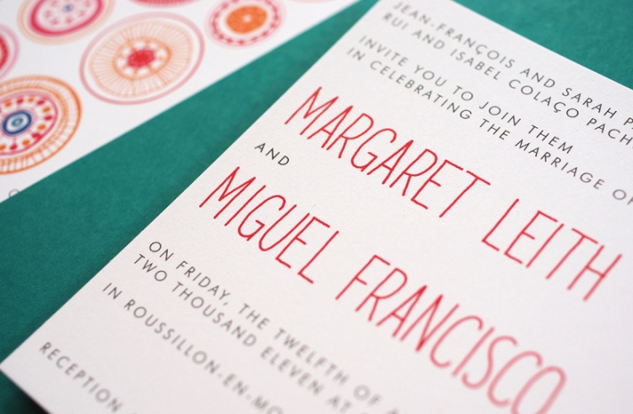 Modern Circles Wedding Invitation 2