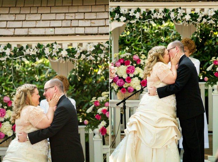 Handmade Wedding with Vintage Details Outdoor Ceremony