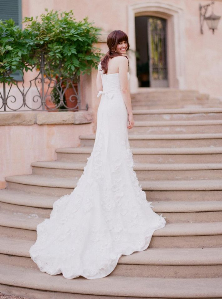2013 wedding dress one shoulder sheer Peony