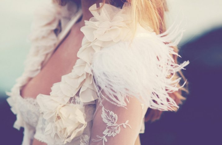 Feather Wedding Finds Great Gatsby Vintage Theme Sleeved Bridal Shrug