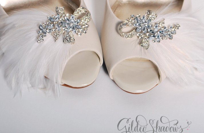 Feather Wedding Finds Great Gatsby Vintage Theme Shoe Clips
