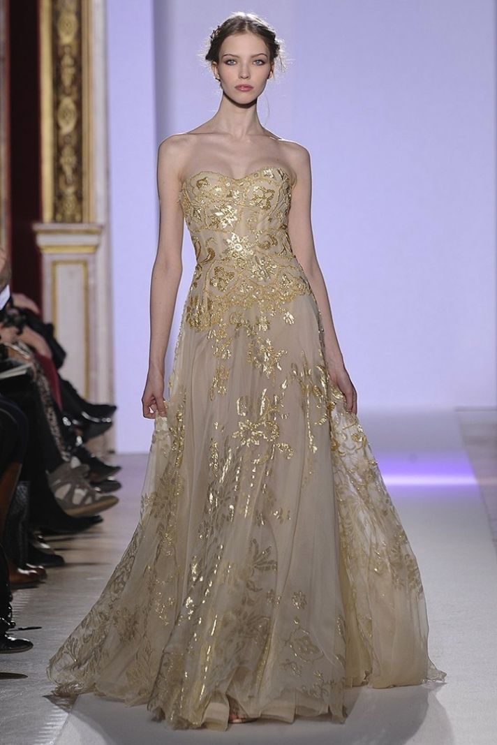 Bridal style inspiration gilded magic by zuhair murad for Zuhair murad wedding dresses prices