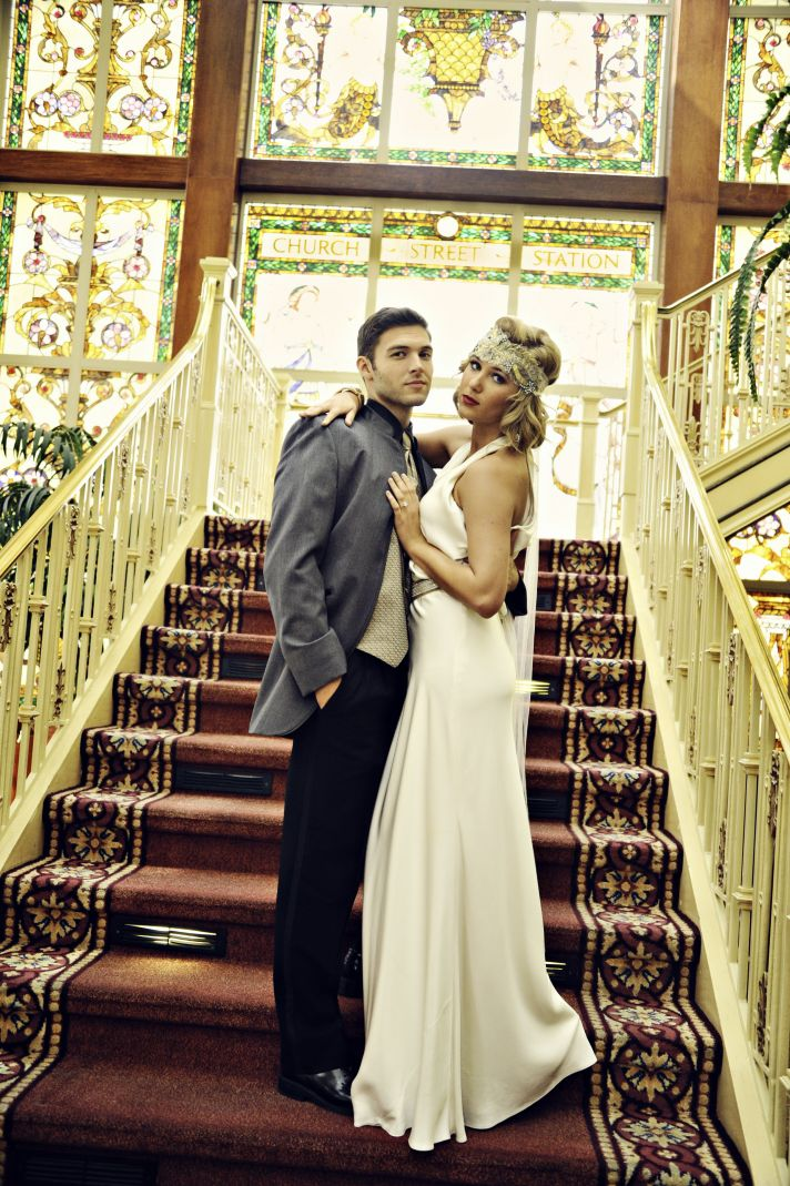 Great Gatsby Inspired Bride and Groom