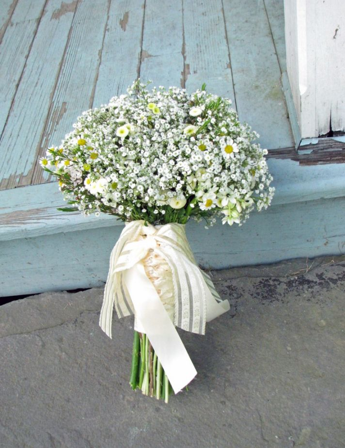 Mini Daisies Babys Breath Bridal Bouquet